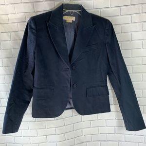 Michael Michael Kors Dark Navy Fitted Blazer Sz 4